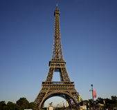 The Eiffel Tower in the summer Stock Photo