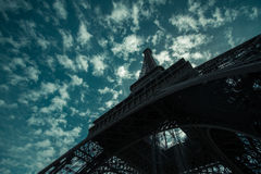 Eiffel tower during summer in Paris, France. Stock Photo