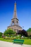 Eiffel Tower, summer park in Paris, France Stock Photos