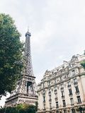 Eiffel Tower in the Summer Stock Photos