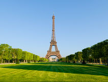 Eiffel Tower in sunlight Royalty Free Stock Image