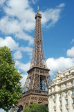 Eiffel tower sunny day Stock Image