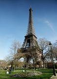 Eiffel tower in a sunny day Royalty Free Stock Photo