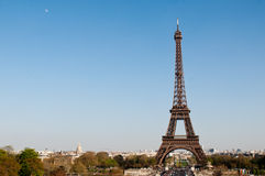 Eiffel Tower in the sunny day Royalty Free Stock Images