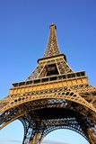 Eiffel Tower on sunny day with clear blue sky background Royalty Free Stock Photos