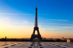 Eiffel Tower at Sunrise Royalty Free Stock Photo