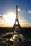 Eiffel Tower sunrise Royalty Free Stock Image