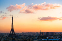 Eiffel tower at sunrise, Paris. Royalty Free Stock Photography