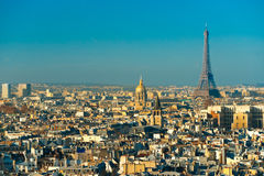 Eiffel tower at sunrise, Paris. stock images