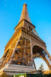 Eiffel tower at sunrise, Paris. Royalty Free Stock Image