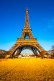 Eiffel tower at sunrise, Paris. Stock Image