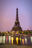 Eiffel Tower in sunrise at Seine, Paris Stock Photography
