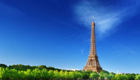 Eiffel tower in sunrise time Paris Stock Photography