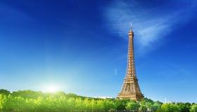 Eiffel tower in sunrise time Paris Stock Images