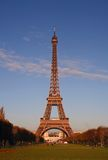 Eiffel Tower at sunset. Eiffel Tower in the beautiful colors of sunset Royalty Free Stock Photos