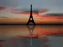 Eiffel Tower at sunset Royalty Free Stock Photography