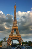 Eiffel tower at sunset Royalty Free Stock Photo