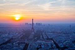 Eiffel Tower sunset Royalty Free Stock Photography