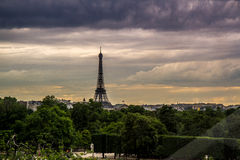 Eiffel Tower at Sunset from Ferris Wheel Royalty Free Stock Photo
