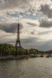 Eiffel tower at sunset. Stock Photos