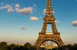 Eiffel. Tower, sunset, night and beautiful Stock Photo
