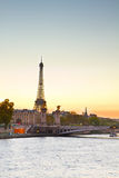 Eiffel tower at sunset, Paris Royalty Free Stock Image