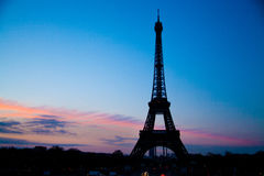 Eiffel tower sunset Stock Image