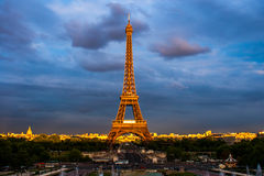 Eiffel tower in the sunset Stock Image