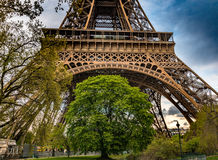 The Eiffel Tower at sunset - Paris Royalty Free Stock Photography
