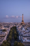 The Eiffel Tower at sunset Royalty Free Stock Photography