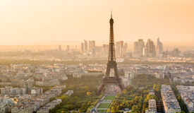 The Eiffel tower at sunset in Paris Stock Image