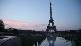 Eiffel tower sunset stock footage