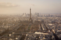 The Eiffel Tower during the Sunset Royalty Free Stock Images