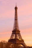 Eiffel Tower at Sunset Stock Photography