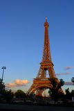 Eiffel Tower in sunset Stock Photo