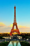 Eiffel Tower At Sunset From Trocadero Palais de Chaillot Royalty Free Stock Photo