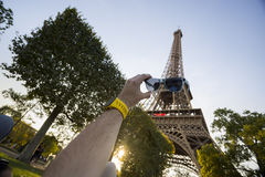 Eiffel Tower with Sunshades Stock Photography