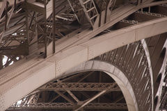 Eiffel Tower support girders  Royalty Free Stock Images