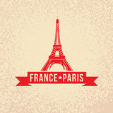 Eiffel tower - The symbol of France, Paris. Stock Images
