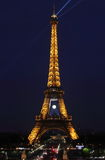 Eiffel Tower, symbol of Paris, by night Royalty Free Stock Images