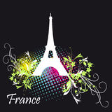 Eiffel Tower symbol to France Royalty Free Stock Photos