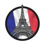 Eiffel Tower symbolizing peace sign Stock Photo