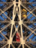 Eiffel Tower Symmetrical and lifts Stock Photo