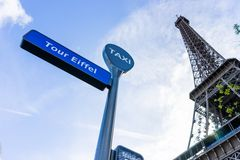 The Eiffel Tower taxi stand Stock Photo