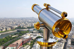 Eiffel Tower telescope Royalty Free Stock Photography