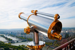 Eiffel Tower telescope overlooking Stock Photography