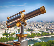 Eiffel Tower telescope Royalty Free Stock Images