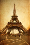 Eiffel Tower textured with old paper Royalty Free Stock Photography