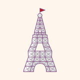 Eiffel Tower theme elements vector,eps Royalty Free Stock Photos