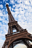 Eiffel tower tilted view. Stock Photo